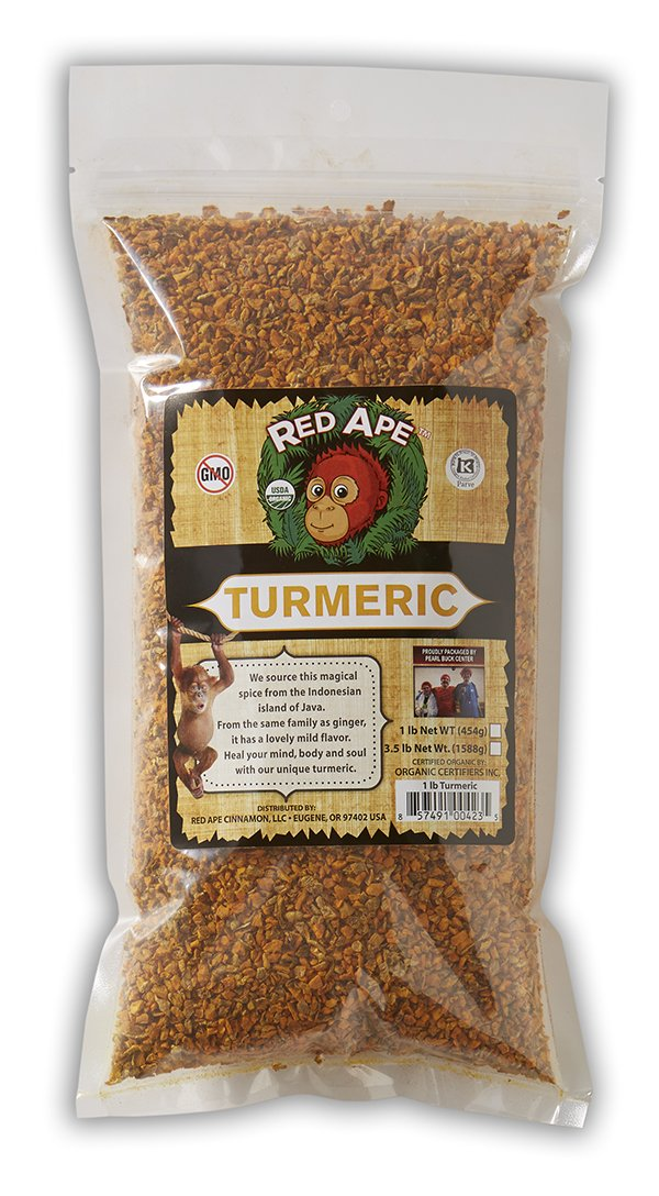 Red Ape Cinnamon Organic Turmeric Pieces, 1 Pound