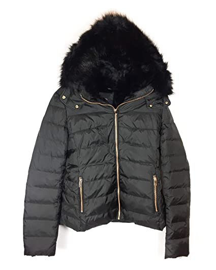 44aa4049 Zara Women's Hooded Down Puffer Jacket 8073/223 Black: Amazon.co.uk ...
