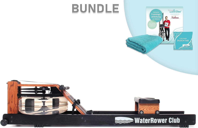 Water Rower - Máquina de Remo (Roble/Fresno/Nogal/Cerezo/Shadow/Club/A1, Incluye Instrucciones de Remo (Idioma español no garantizado), Toalla y Bandeja de Ducha