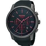 Pulsar Uhren - PT3195X1 - Montre Homme - Quartz Chronographe - Chronomètre - Bracelet Caoutchouc Noir