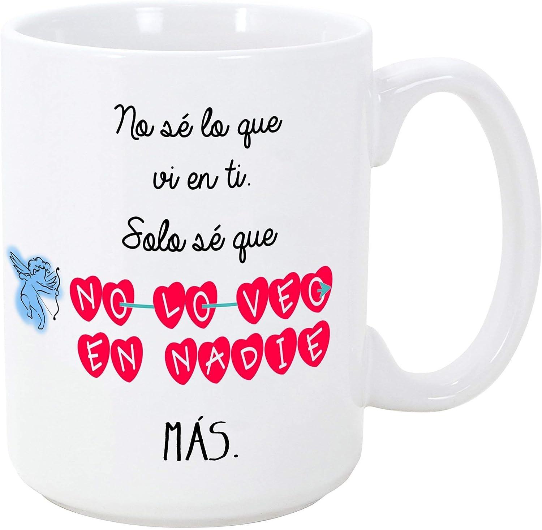 MUGFFINS Taza para Regalar a Enamorados/San Valentín – No sé lo Que Vi en ti, Solo sé Que no lo Veo en Nadie más – cerámica 350 ml - Tazas con Frases de Regalo para Novios/Novias. Aniversarios