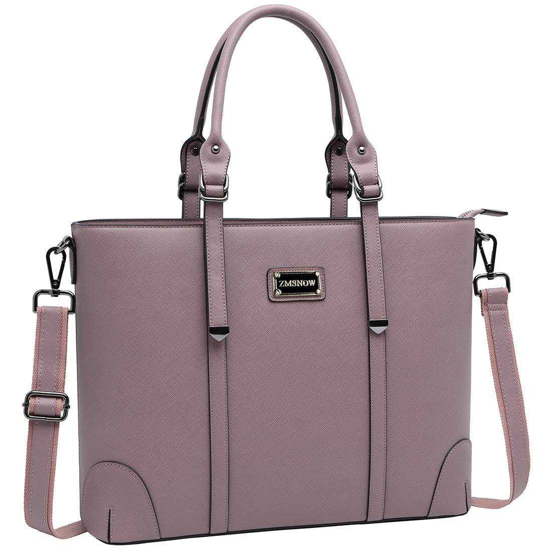 Laptop Bag for Women, Superior Laptop Tote Bag Computer Briefcase Fits up to 15.6 Inch Laptop for Women Work Office Business School Travel by ZMSnow (Purple)