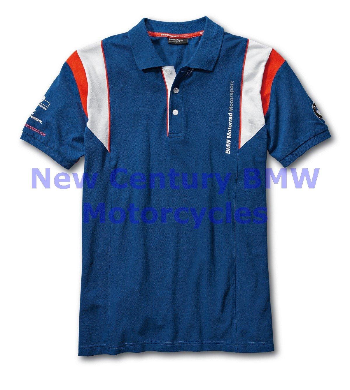 BMW Genuine Motorcycle Men Motorsport Polo Shirt Blue/White/Red M Medium