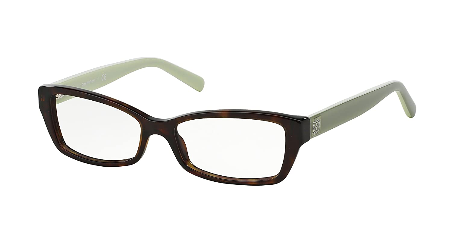 e6312a1fbe77 Tory Burch TY2041 Eyeglass Frames 1286-51 - Tortoise Mint TY2041-1286-51 at  Amazon Men's Clothing store: