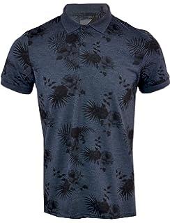 d47e3f515729 Mens Hawaiian Fashion Floral Polo Shirt Short Sleeve Casual Cotton Summer S- XXL