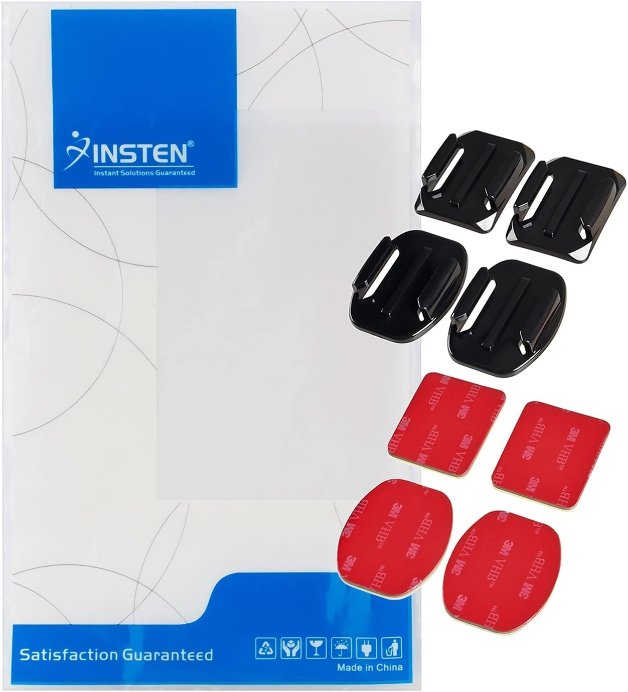 JMT 2pcs//each Flat Curved Adhesive Sticky Mount Super Sticker for Gopro Hd Hero2 Hero3 Camera Sport
