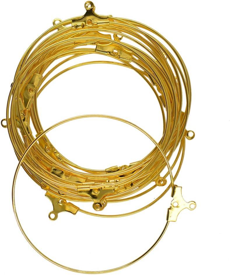 20pcs Bucle Pendiente de Joyería de Oído Alambre de Abalorios Aro de Color Oro Hace Resultados de Bricolaje