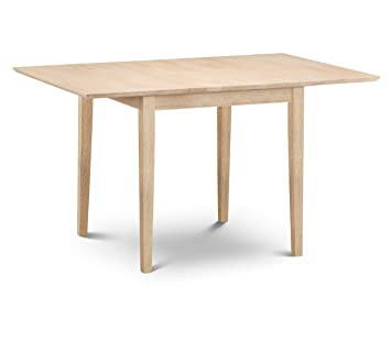 Julian Bowen Rufford Extending Dining Table Light Lacquered Solid - Light wood extending dining table