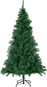 SALCAR Artificial Christmas Pine Tree 6ft with 560 Branch Tips for Holiday, Home, Office, Party Decoration,Includes Metal Christmas Tree Stand