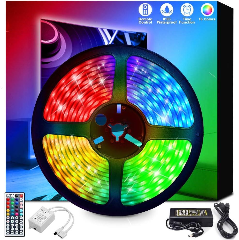 20M//66ft RGB 3528 SMD LED Strip light 44Key Remote 12V Flexible Color Home Decor
