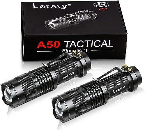la randonn/ée Lampe torche LED rechargeable par USB Q5 zoomable 3 modes de mise au point r/églable lampe de poche pour le sport la p/êche mini lampe torche super l/ég/ère le camping