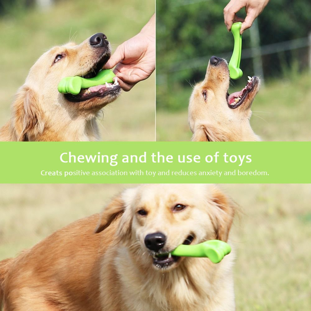 oneisall Durable Dog Chew Toys Bone Chew Toy for Puppy Dogs— Indestructible for Aggressive Chewers L by oneisall (Image #5)