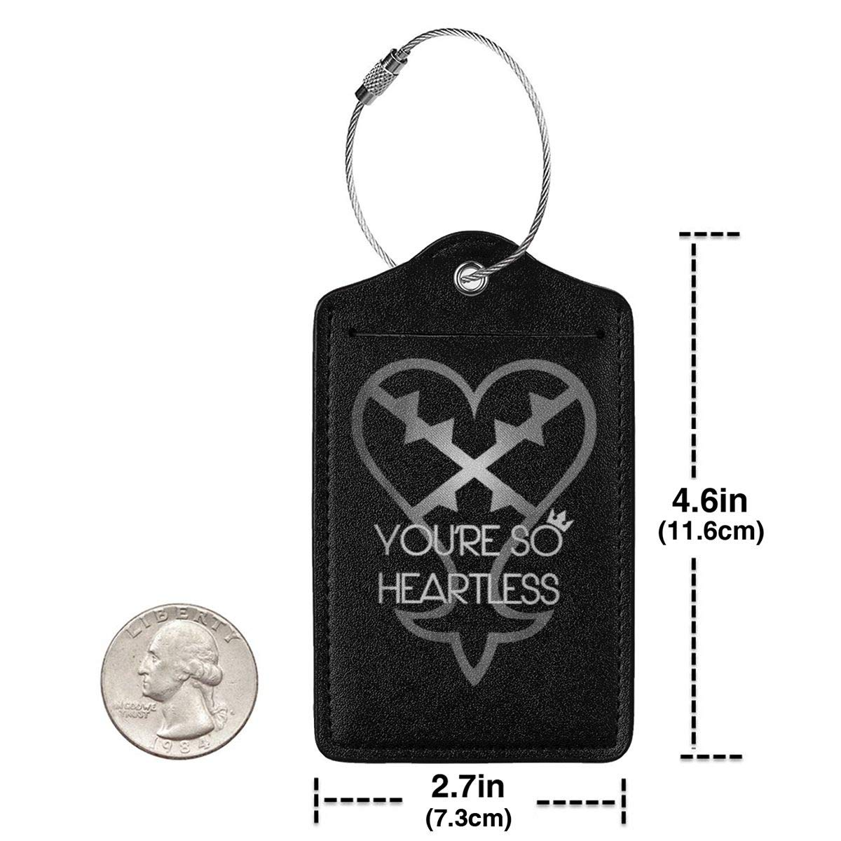 Printing Kingdom Hearts Leather Luggage Tag Travel ID Label For Baggage Suitcase