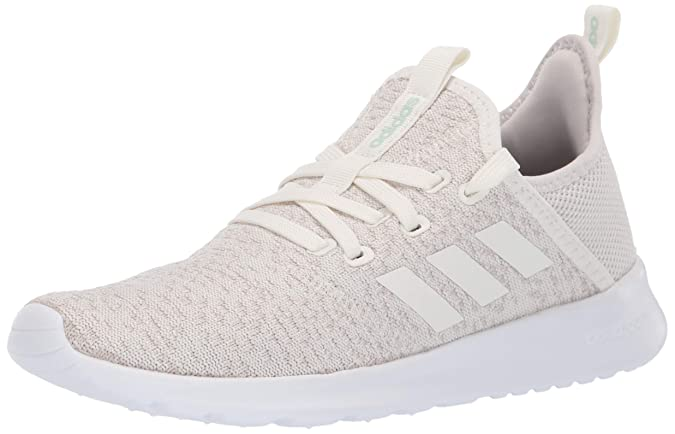adidas Women's Cloudfoam Pure Running Shoe, Cloud White/Ice Mint, 10 Medium US