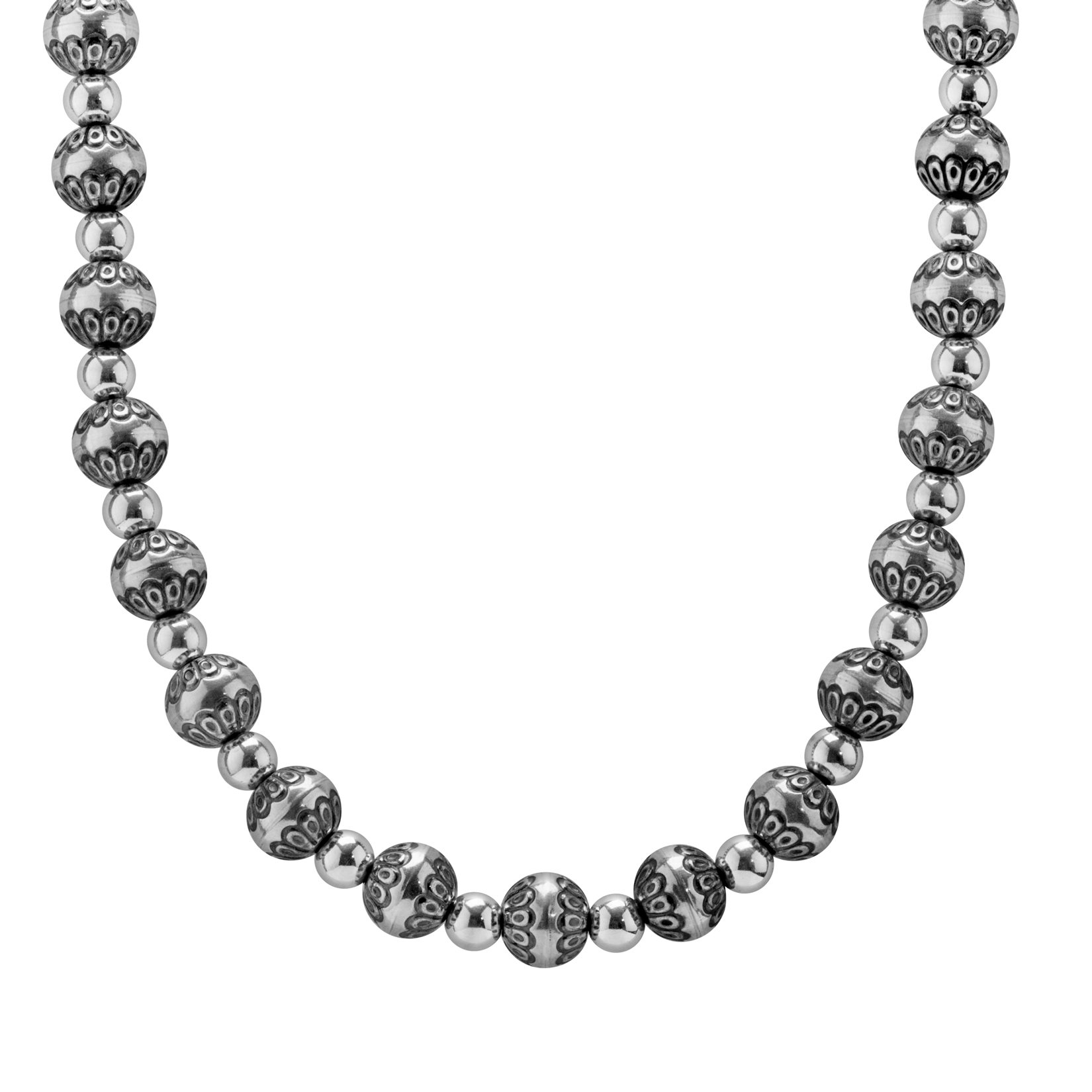 American West Sterling Silver Native Pearl 17 Necklace