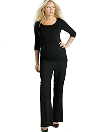 "a83ed9de9f1880 Tailored Maternity Pregnancy Trousers, UK Size 8 (XS), Petite Length  28"""