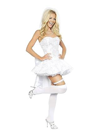 d992a8c428 Amazon.com  Roma Costume 4 Piece Fantasy Bride Costume  Clothing
