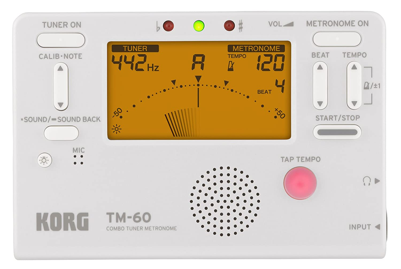 Korg TM60WH accordatore metronomo, bianco Korg USA Inc.
