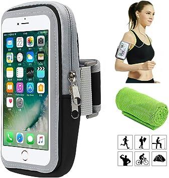 Brazalete deportivo,Universal Impermeable Teléfono Móvil Brazo Bolsa de Viaje Cartera Bolsa,para Deportes al aire libre/correr/Fitness,para iphone/Samsung Galaxy/Moto/Huawei/Xiaomi/etc y Otros Moviles: Amazon.es: Electrónica