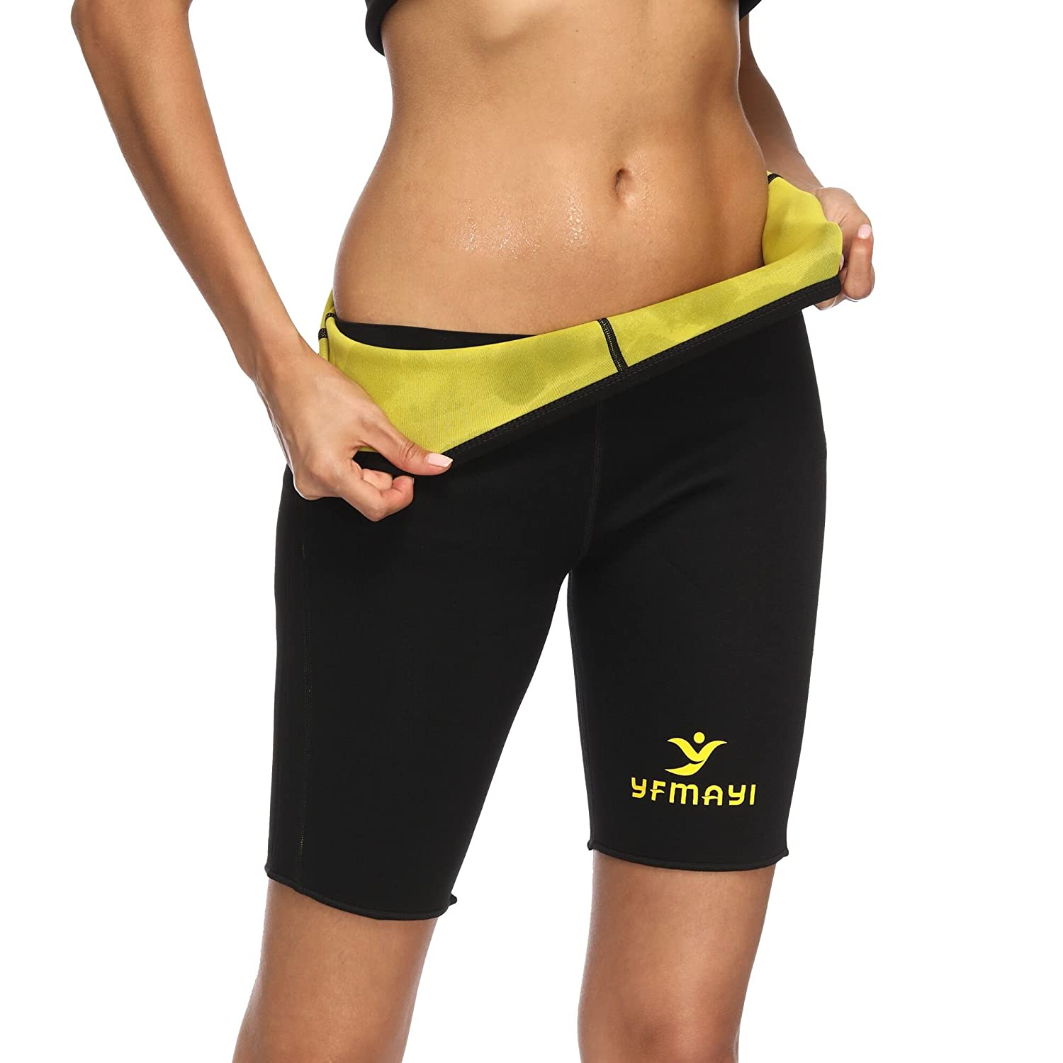cccd64d10828f YFMAYI Material Hot Sweat Sauna Neoprene Pants Body Shapers Slimming Gym  Leggings Body Shapers Anti-Cellulite Shorts Thermo Fitness Weight Loss Yoga  Sports ...