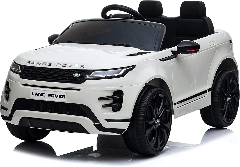 TOYSCAR electronic way to drive Auto Macchina Elettrica Range Rover Evoque 12V per Bambini Porte apribili con Telecomando Full Accessori Bianca