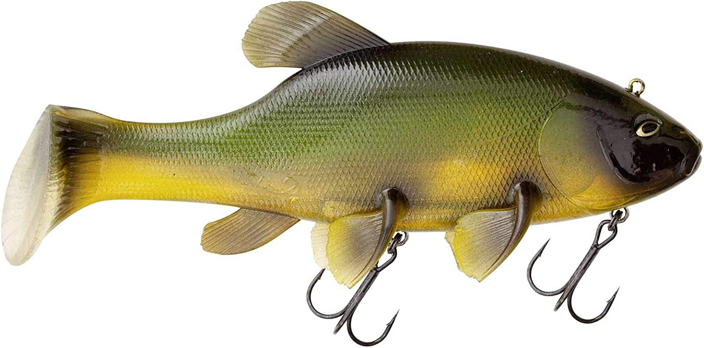 Freak of Nature SwimBait Tench 23cm Green Tench Quantum Gummifisch montiert