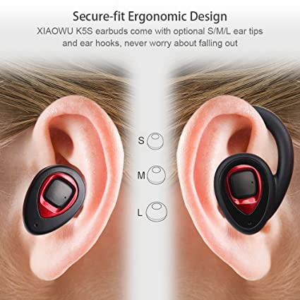 73fdae0a8e4 XIAOWU Wireless Bluetooth Headphones, Bluetooth V4.1 Headphones with  Built-in Mic and Charging Case Noise Cancelling Stereo Mini Headset for  iPhone Samsung ...