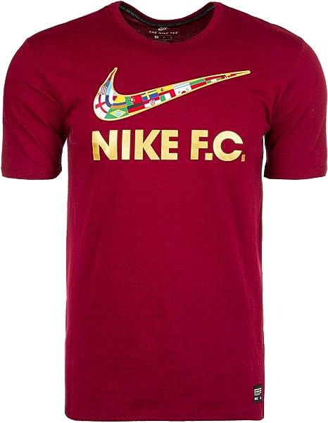 Nike F.C. para hombre Camiseta de fútbol de la bandera de Swoosh ...