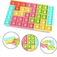 Tetris Puzzle, Rompecabezas Juguete sensorial y Educativo de explotar Burbujas antiestrés Relajante Push Pop it para…