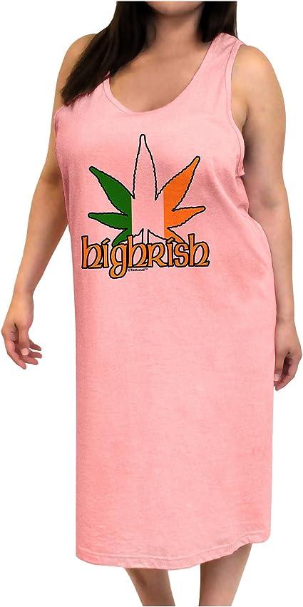 TooLoud Highrish Marijuana Leaf Distressed Muscle Shirt