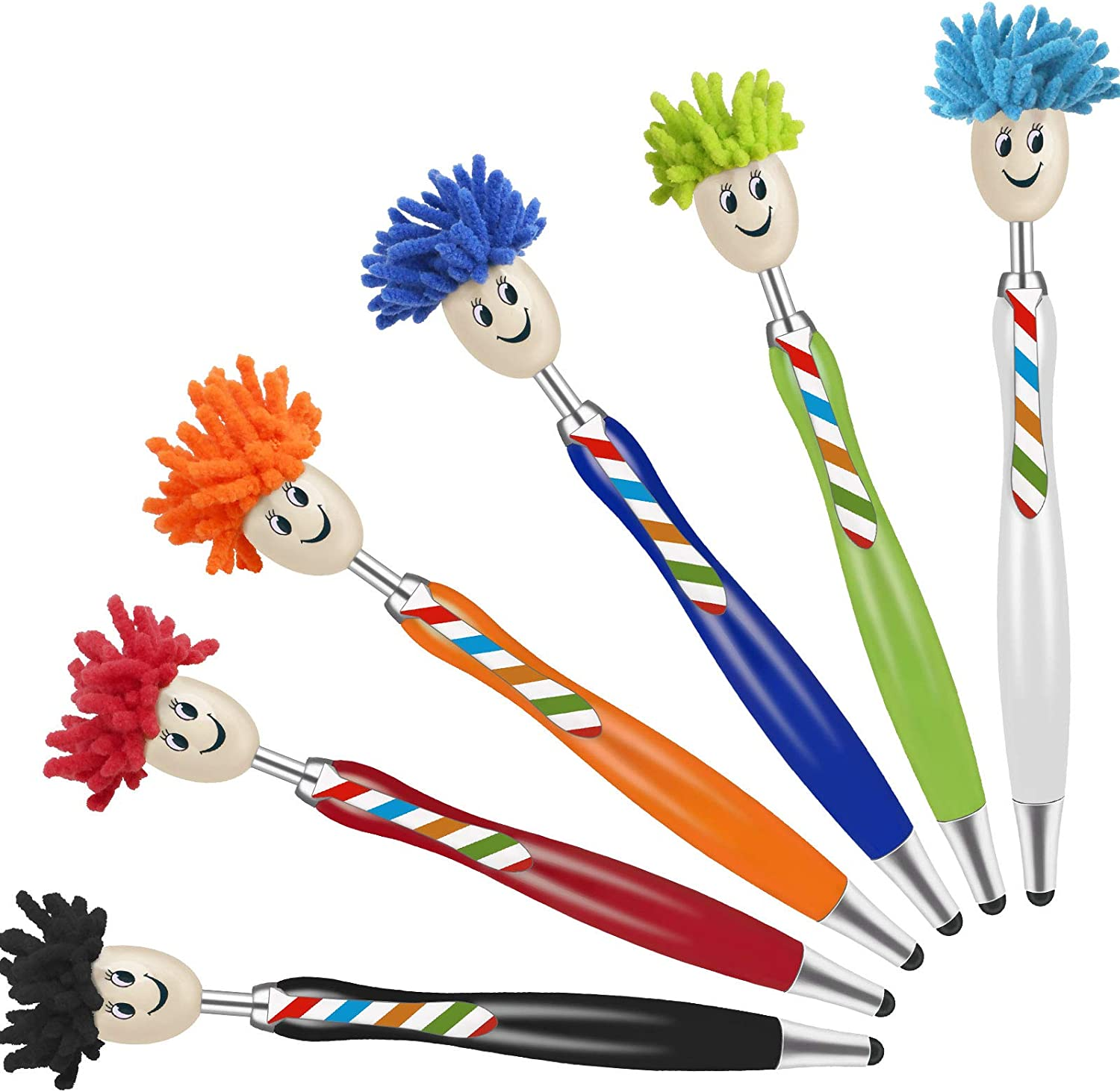 Stylus Pens for Touch Screens, StylusHome 6 Pieces Capacitive Stylus Kids Pens with 12 Replaceable Rubber Tips for iPad iPhone Tablets Samsung Galaxy All Universal Touch Screen Devices