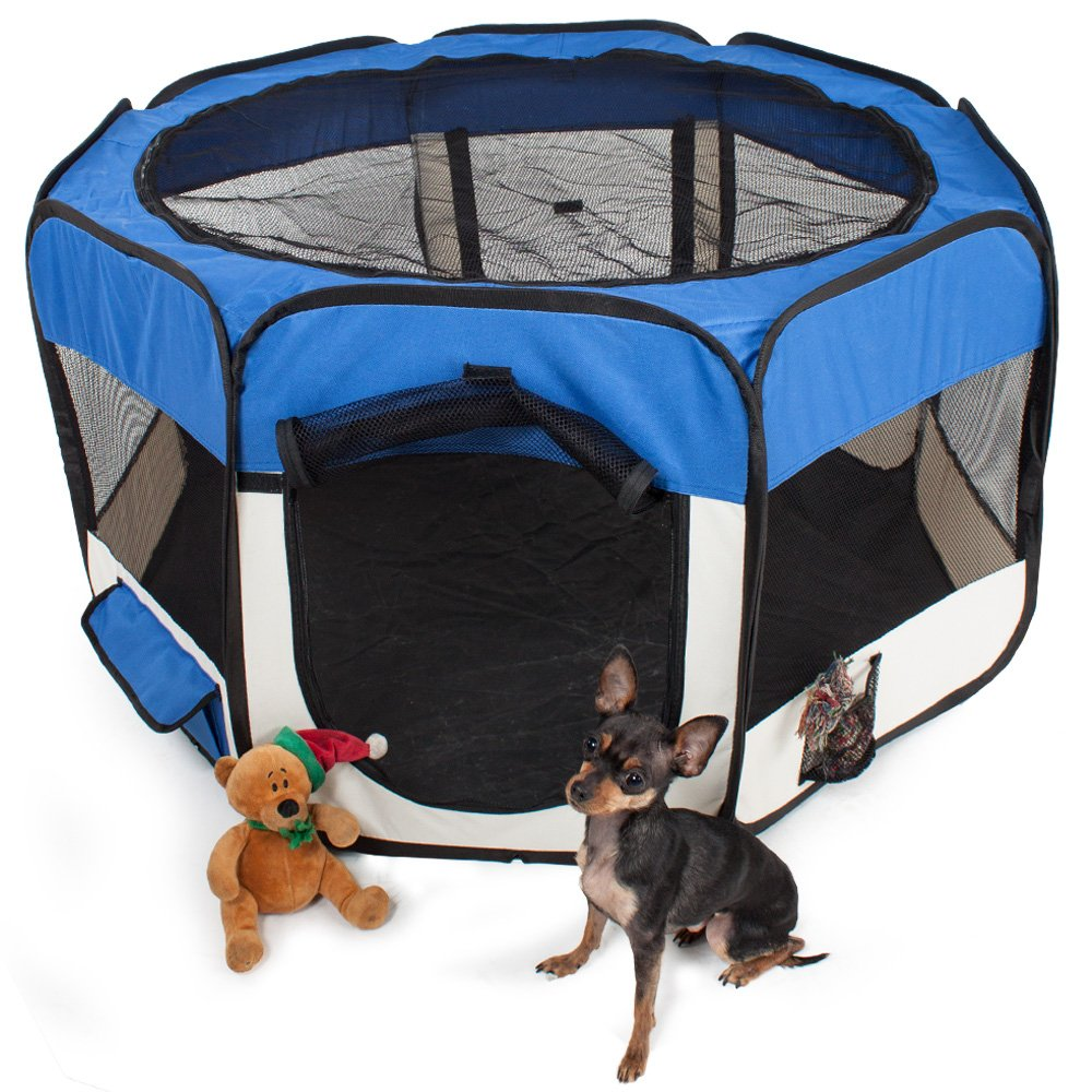 TecTake Parque para cachorros recinto parque para animales perros gatos - disponible en diferentes colores - (Azul | no. 400736): Amazon.es: Productos para ...