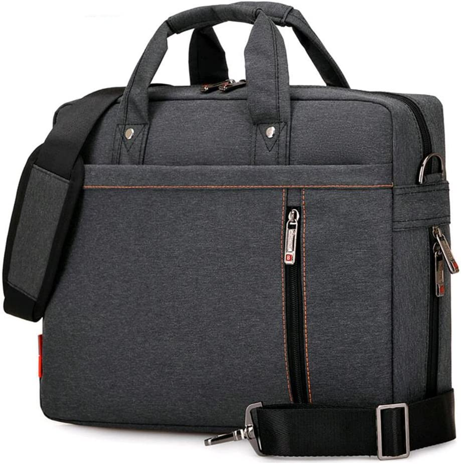 "SNOW WI 14.4"" Expandable Laptop Shoulder Bag for MacBook,Acer,Asus,Dell(Black)"