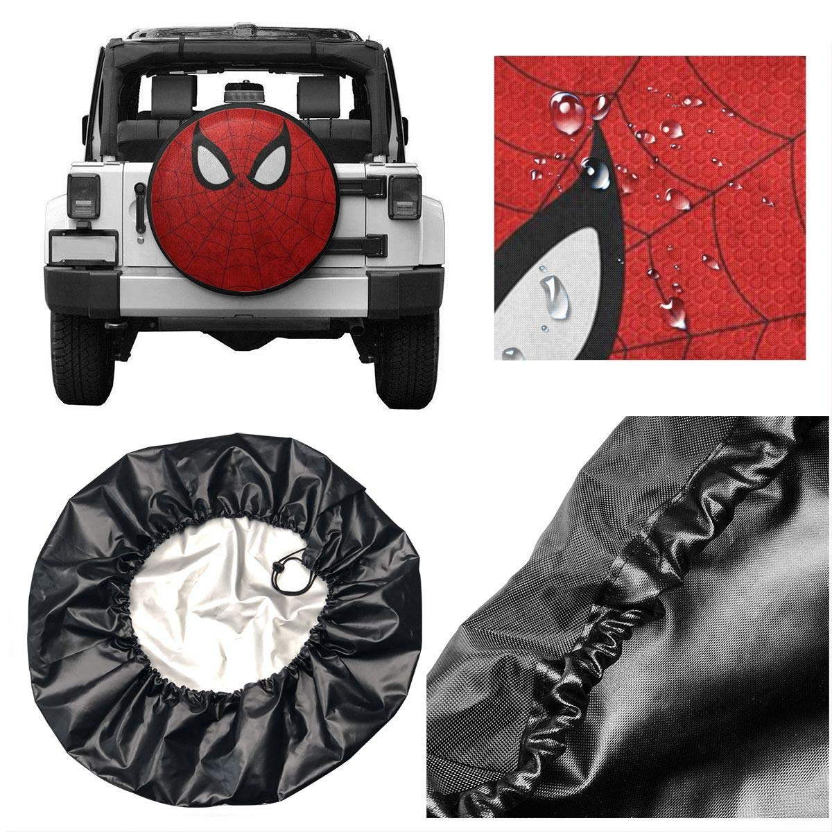 Lbbb1994 Fashion Stylish Cool Spiderman Classic Accessories Over Drive Standard RV Jeep Liberty Wrangler SUV Camper Travel Wheel Cover For14-17 Inch