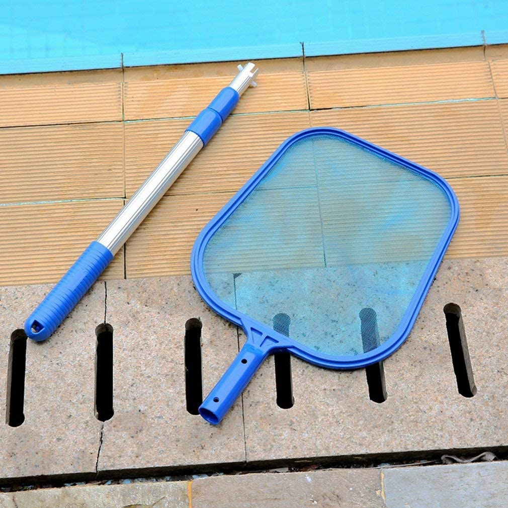 BlackEdragon Clean Cast Kescher Set Swimming Pool- F/ür klar Pool Leaves und Debris Pool Tief Kescher inklusive Kescheraufsatz und Aluminium Teleskop-Haltestiel,Geeignet f/ür Spas