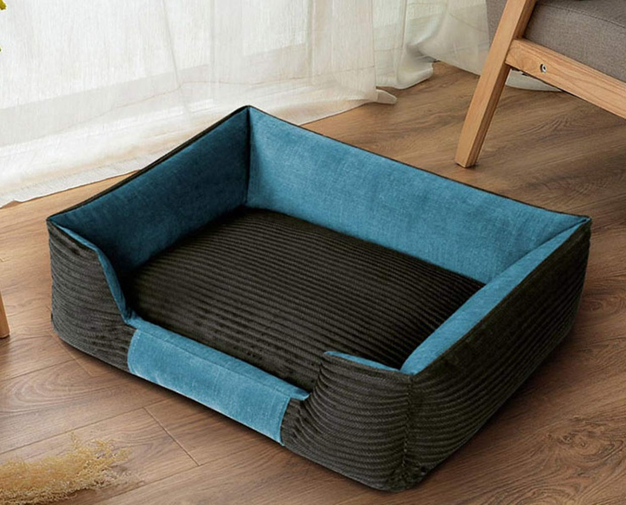 90x66CM RUNWEI Soft Silky Pet Supplies Detachable Kennel Warm And Comfortable Pet Bed (Size   90x66CM)