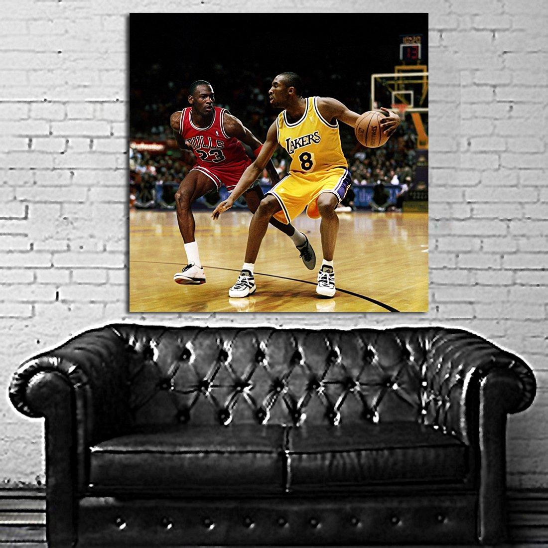 #22 Poster Mural Kobe Bryant Michael Jordan Basketball 40x40 inch (100x100 cm) on Adhesive Vinyl #22 by SDK mural