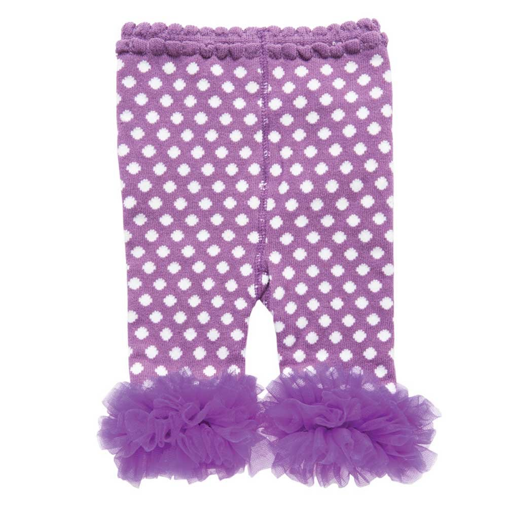 007a20541955f Amazon.com: Toddler Girl Leggings with Ankle Ruffles 12-18 Month Dark  Purple/White: Clothing