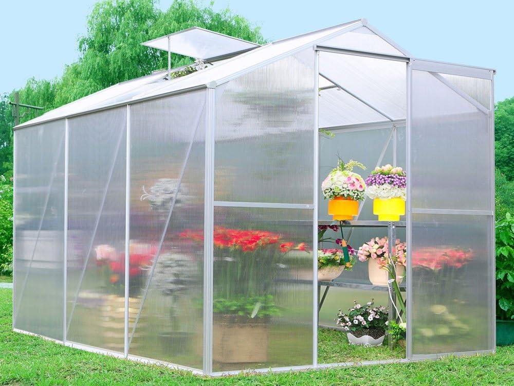 Habitat et Jardin 938_52414 Lilas - Invernadero para jardín (policarbonato, 3,6m²): Amazon.es: Hogar