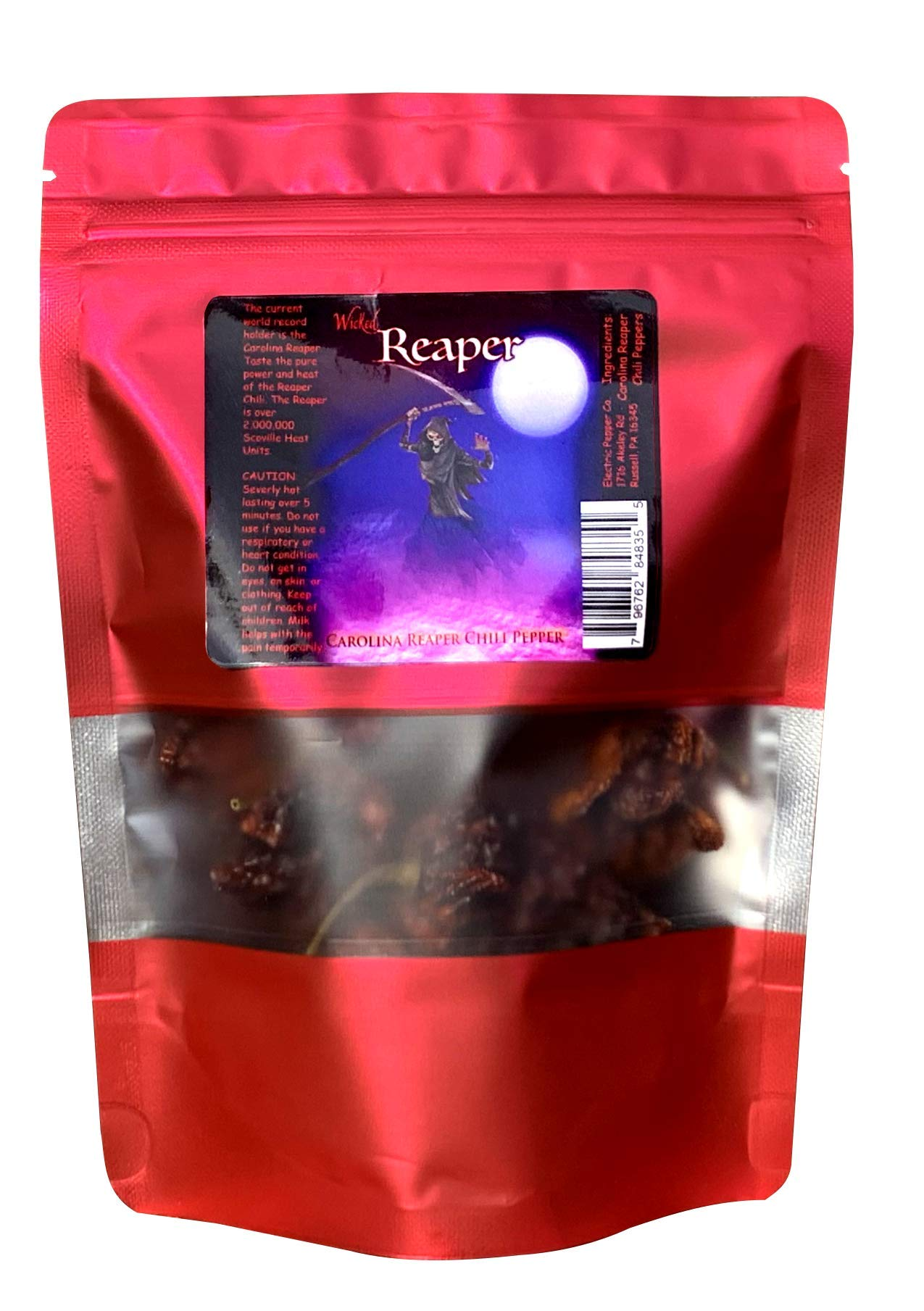 Wicked Reaper Carolina Reaper Chili Peppers World's Hottest Dried Spice 10 Pack +2 Free