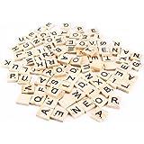 100 letras y números de madera para Scrabble