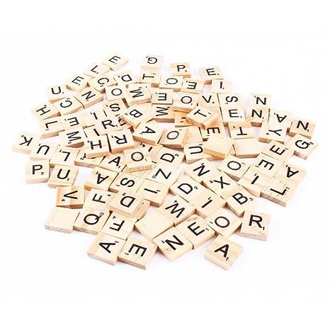 100 Scrabble Buchstabensteine Aus Holz Nummer Und Symbol Kreatives