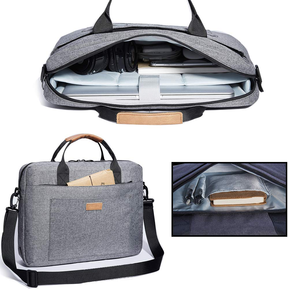 Travelling KALIDI Laptop Shoulder Bag College and Office. 17.3 Inch Notebook Briefcase Messenger Bag for Dell Alienware//MacBook//Lenovo//HP Business