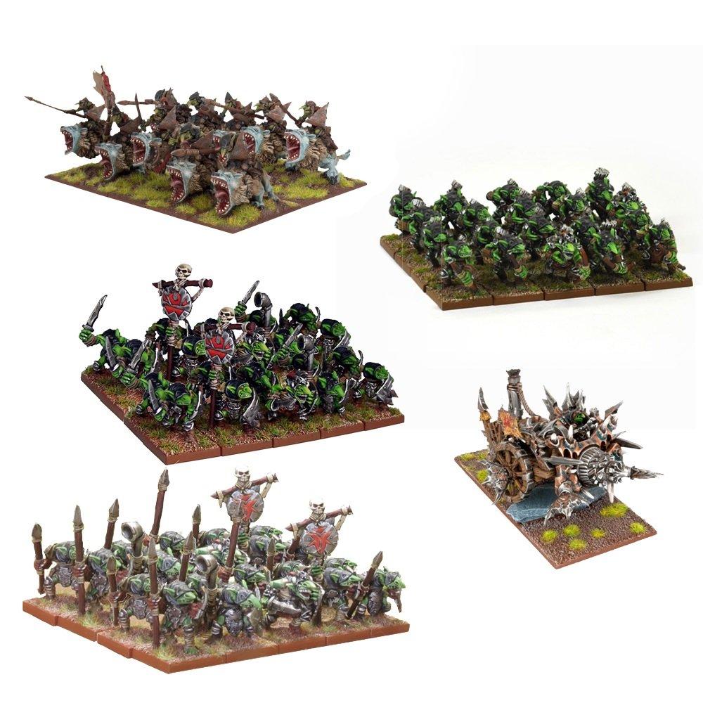 Mantic Games MGKWG100 Kings of War Goblin Starter Force Playset