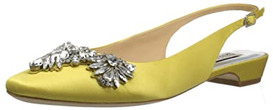 Badgley Mischka Women's Shayla Ballet Flat, Lemon, ...