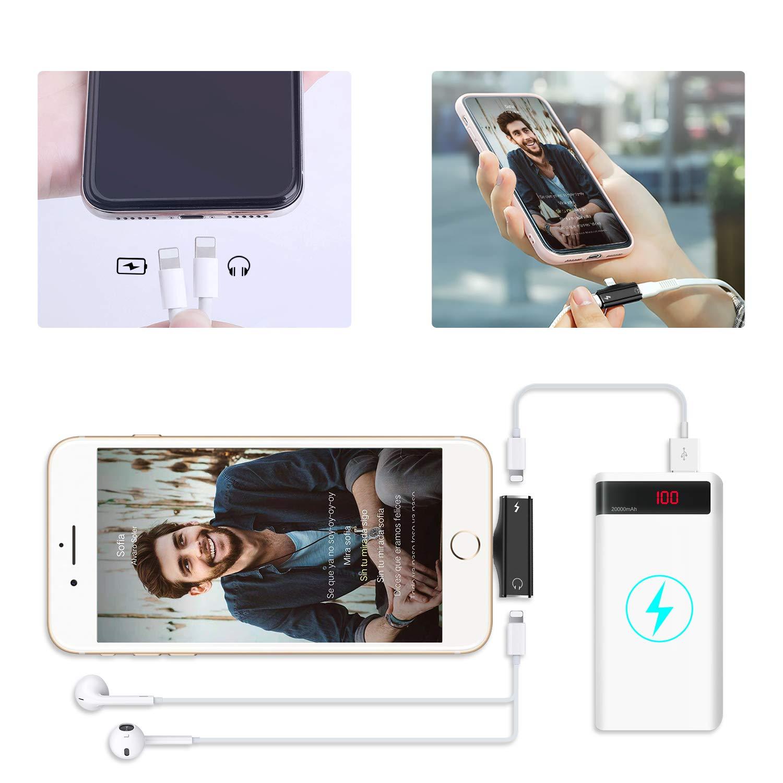 Adaptateur de Casque pour iPhone Audio Splitter 3,5 mm Convertisseur dadaptateur pour iPhone 11 Pro Max //11 Pro // 11//8 //7 Plus//XR//X S/éparateur 2 en 1 Ossky Adaptateur Jack