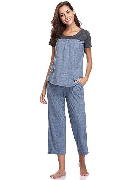 Aibrou Pijamas Mujer Verano Sexy y Elegante,Suave Comodo y Agradable