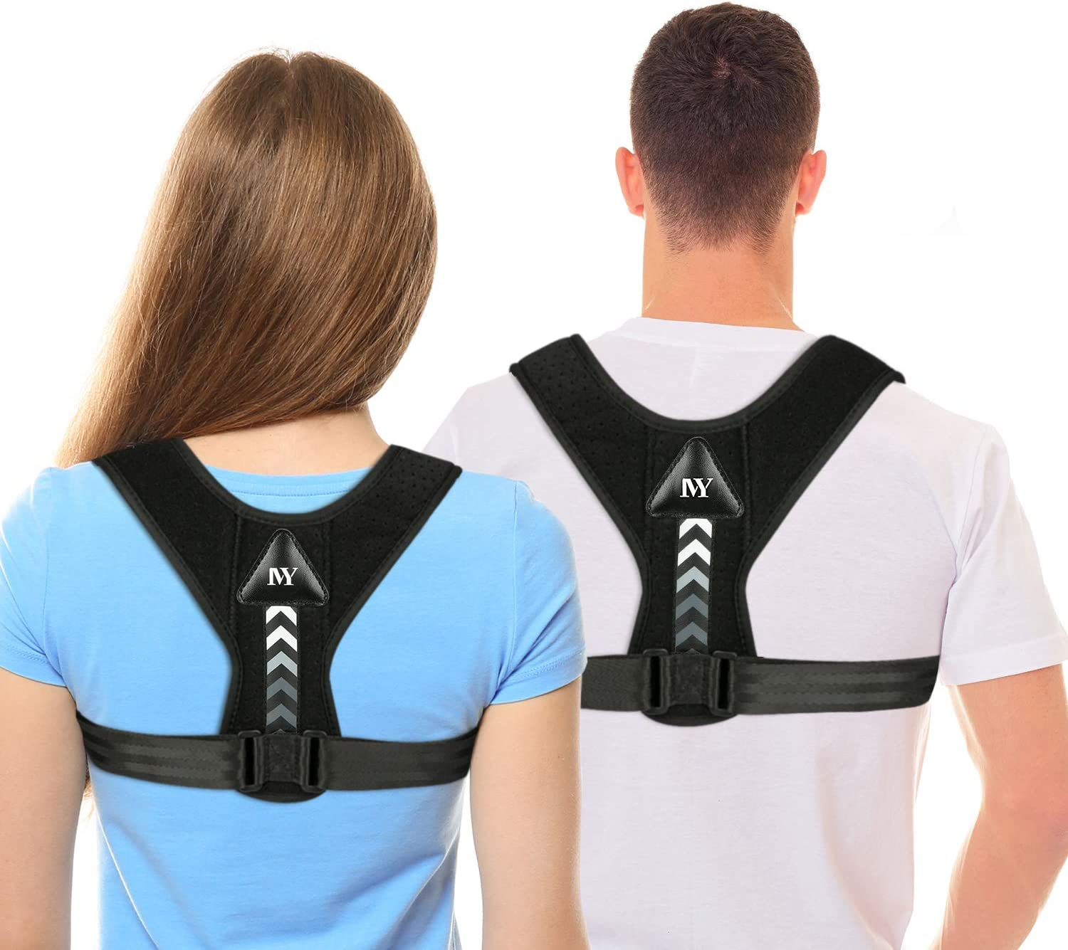 Posture Corrector for Men and Women,Updated Adjustable Upper Back Brace for Clavicle Support and Providing Pain Relief from Neck, Back and Shoulder(Universal) (Style-1)