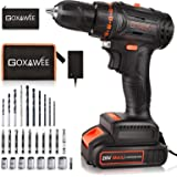 20V Cordless Drill with Brushless Motor - GOXAWEE Electric Screw Driver Set 33pcs Set with Nice Tool Bag (High Torque, 2-Spee