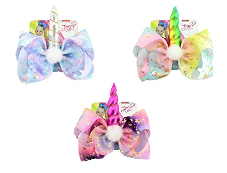 JoJo Siwa Bow Unicorn Hair Clip Signature Collection Color Transcendent  Bows Set Of 3✨✨✨ Comes With 3 Different Styles JoJo Siwa Birthday Party